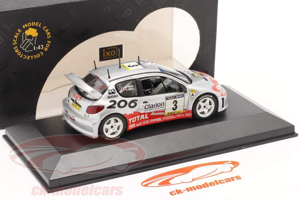Peugeot 206 WRC #3 winner rally Catalunya 2002 Panizzi, Panizzi 1:43 Ixo