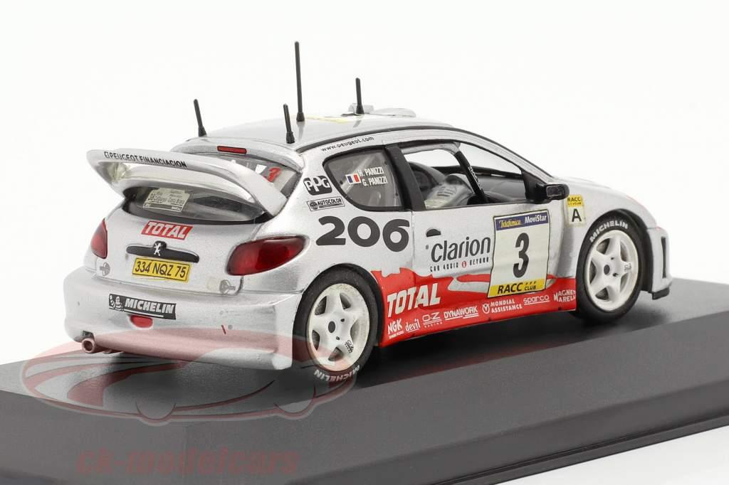 Peugeot 206 WRC #3 Sieger Rallye Catalunya 2002 Panizzi, Panizzi 1:43 Ixo