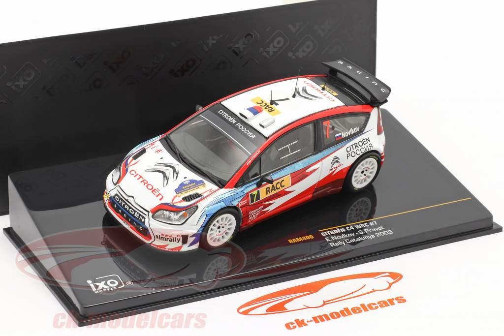 Citroen C4 WRC #7 se rallier Catalunya 2009 Novikov, Prevot 1:43 Ixo