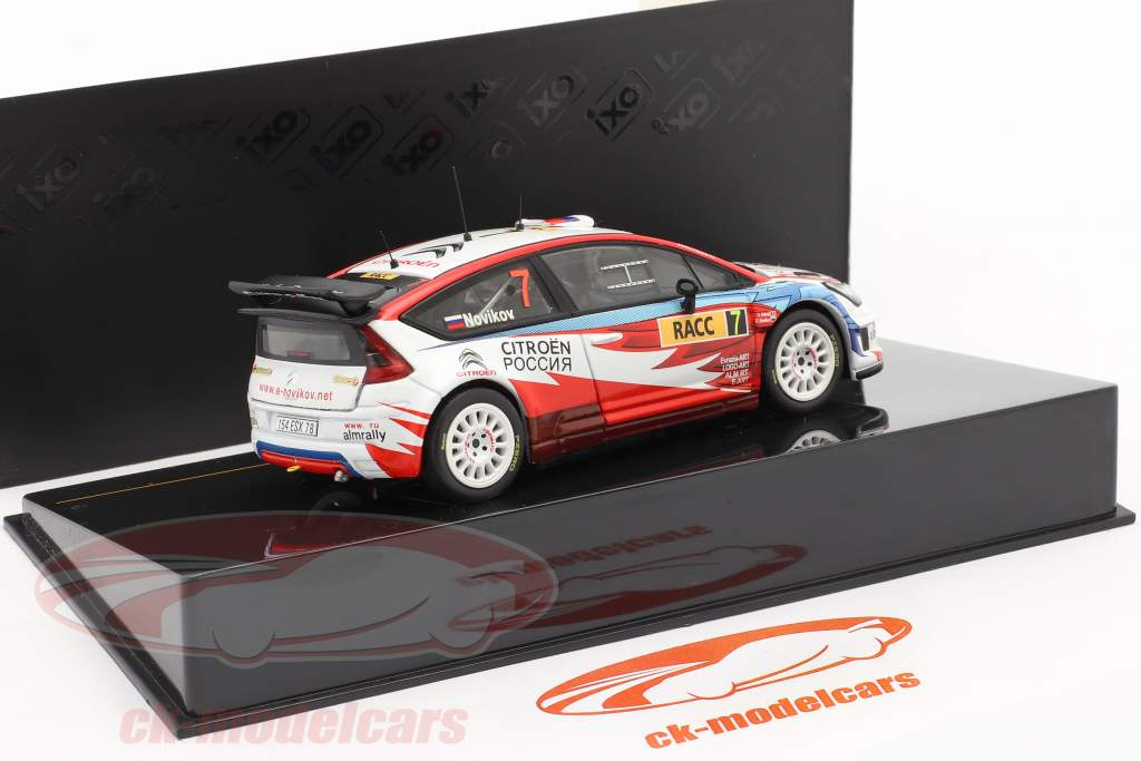 Citroen C4 WRC #7 Rallye Catalunya 2009 Novikov, Prevot 1:43 Ixo