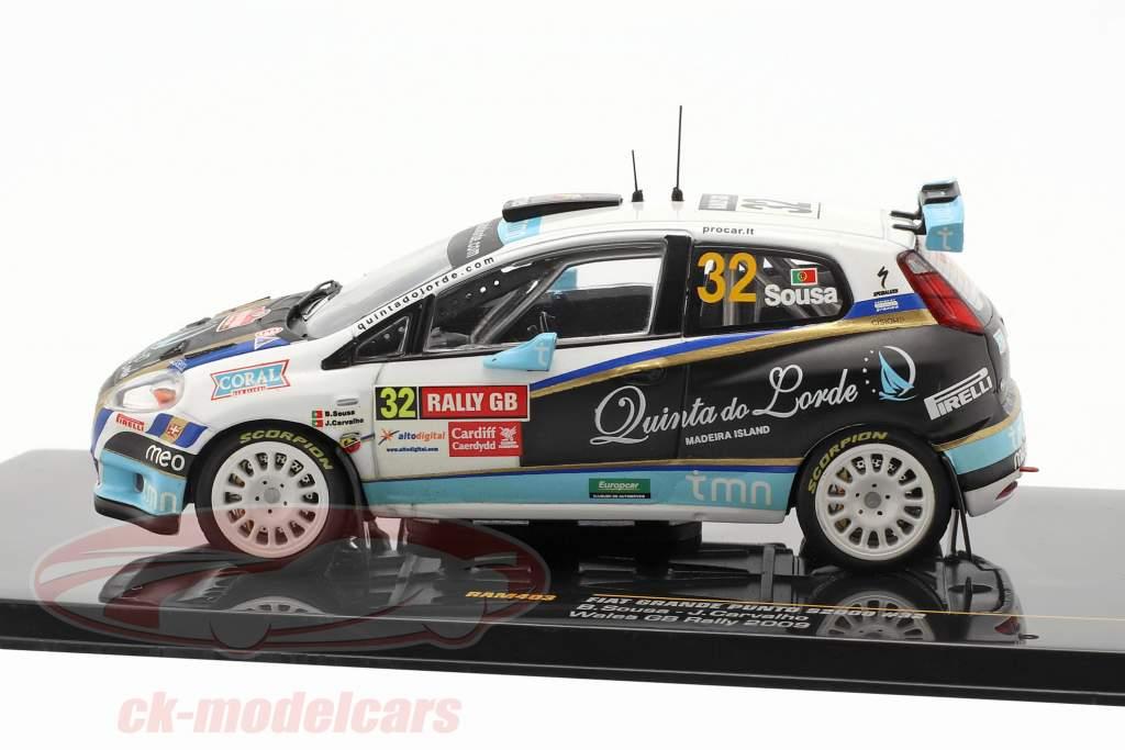 Fiat Grande Punto S2000 #32 Wales GB samle 2009 Sousa, Carvalho 1:43 Ixo