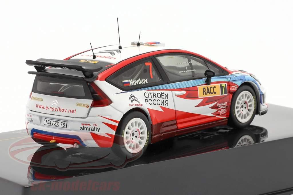 Citroen C4 WRC #7 reunión Catalunya 2009 Novikov, Prevot 1:43 Ixo