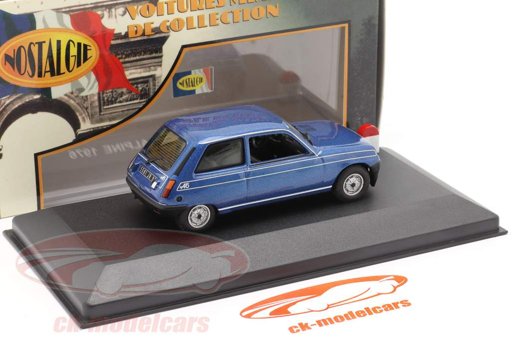 Renault 5 Alpine año 1976 azul 1:43 Nostalgie
