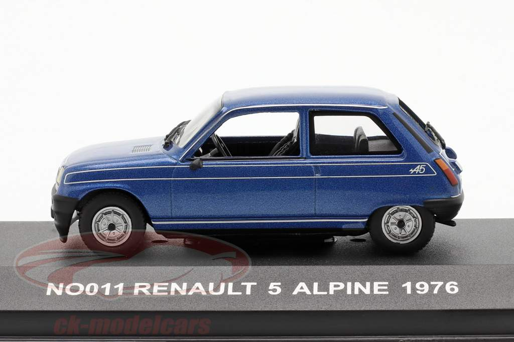 Renault 5 Alpine jaar 1976 blauw 1:43 Nostalgie