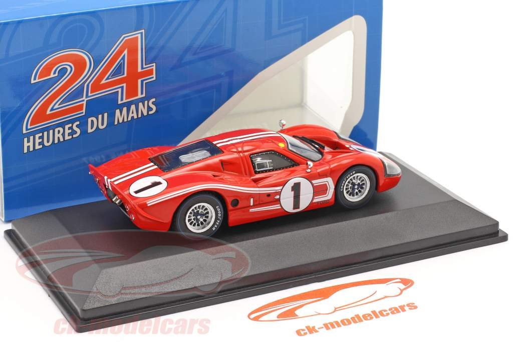 Ford GT40 MK IV #1 ganador 24h LeMans 1967 Gurney, Foyt 1:43 Ixo