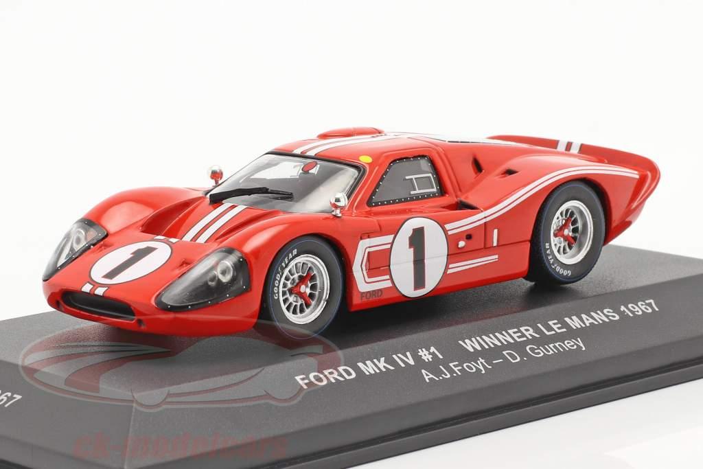 Ford GT40 MK IV #1 vinder 24h LeMans 1967 Gurney, Foyt 1:43 Ixo
