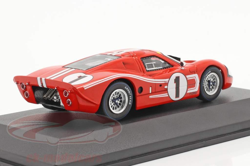 Ford GT40 MK IV #1 vencedora 24h LeMans 1967 Gurney, Foyt 1:43 Ixo
