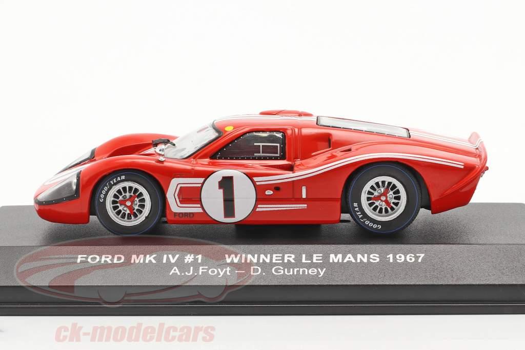 Ford GT40 MK IV #1 Sieger 24h LeMans 1967 Gurney, Foyt 1:43 Ixo