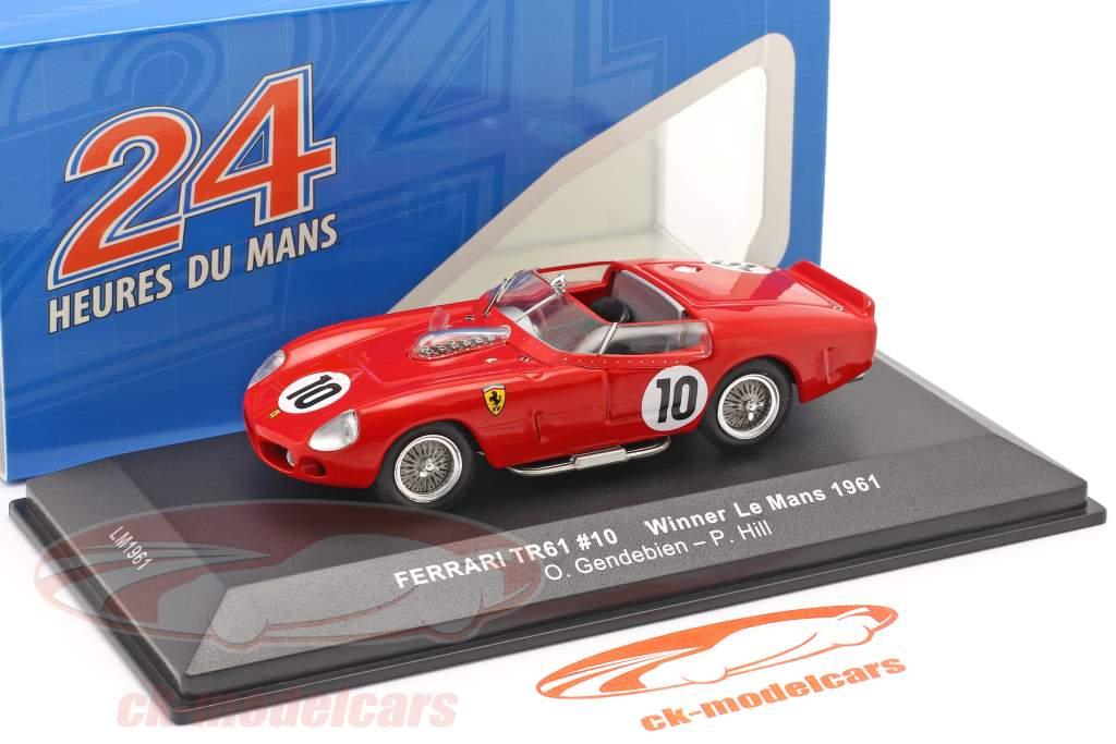Ferrari TRI/61 #10 vinder 24h LeMans 1961 Gendebien, Hill 1:43 Ixo
