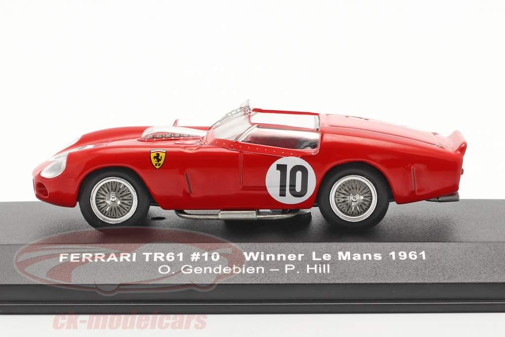 Ferrari TRI/61 #10 vencedora 24h LeMans 1961 Gendebien, Hill 1:43 Ixo
