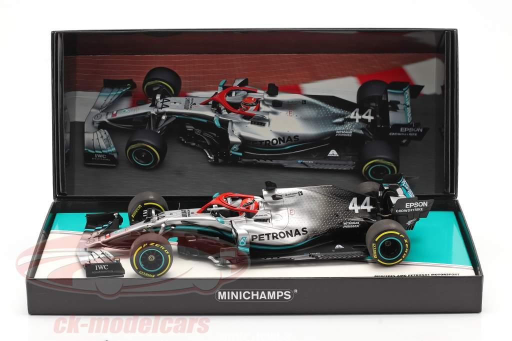 L. Hamilton Mercedes-AMG F1 W10 #44 Mónaco GP F1 Campeón mundial 2019 1:18 Minichamps