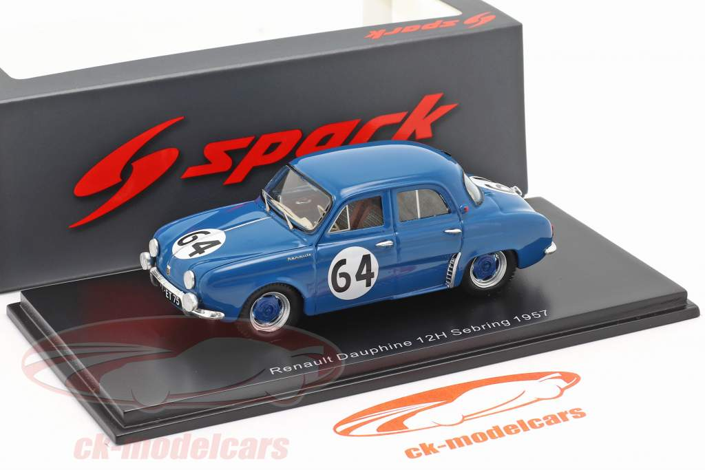 Renault Dauphine #64 Winner T1.0 class 12h Sebring 1957 1:43 Spark