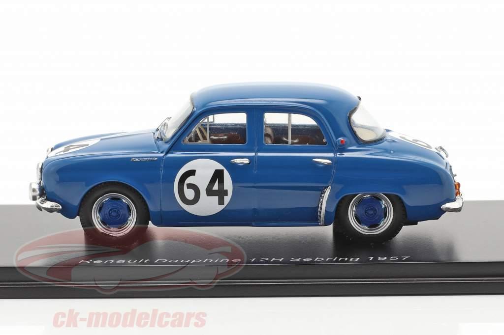 Renault Dauphine #64 winnaar T1.0 klasse 12h Sebring 1957 1:43 Spark