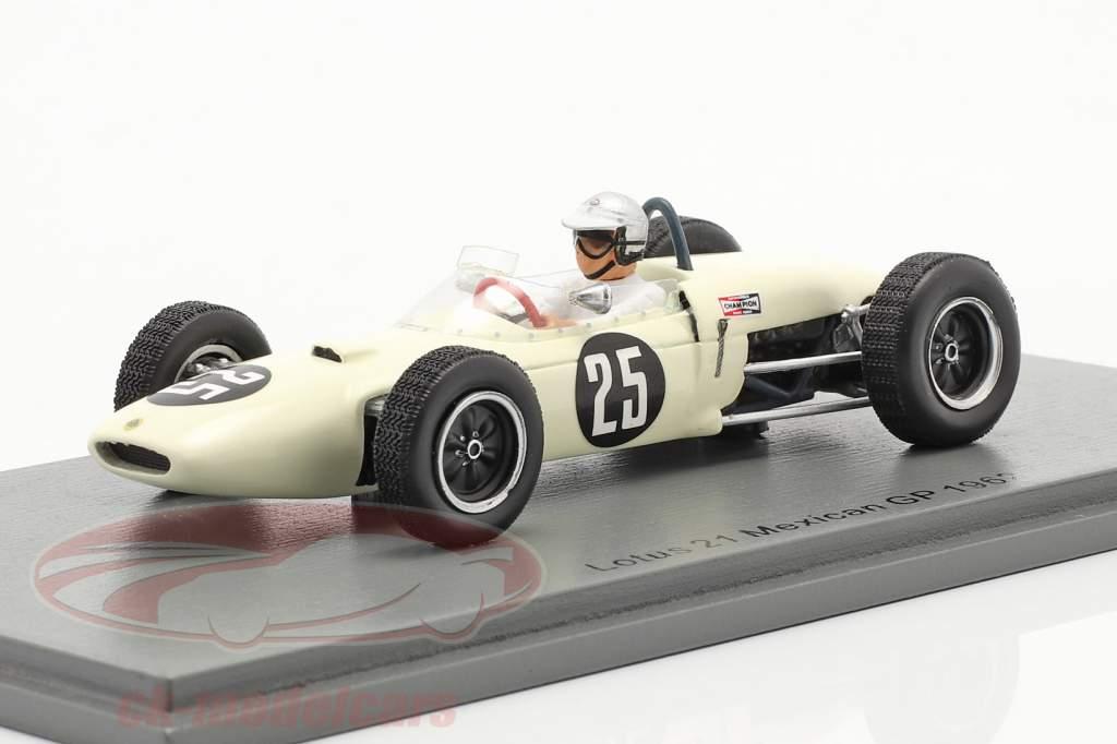 Jim Hall Lotus 21 #25 Mexicaans- GP 1962 1:43 Spark