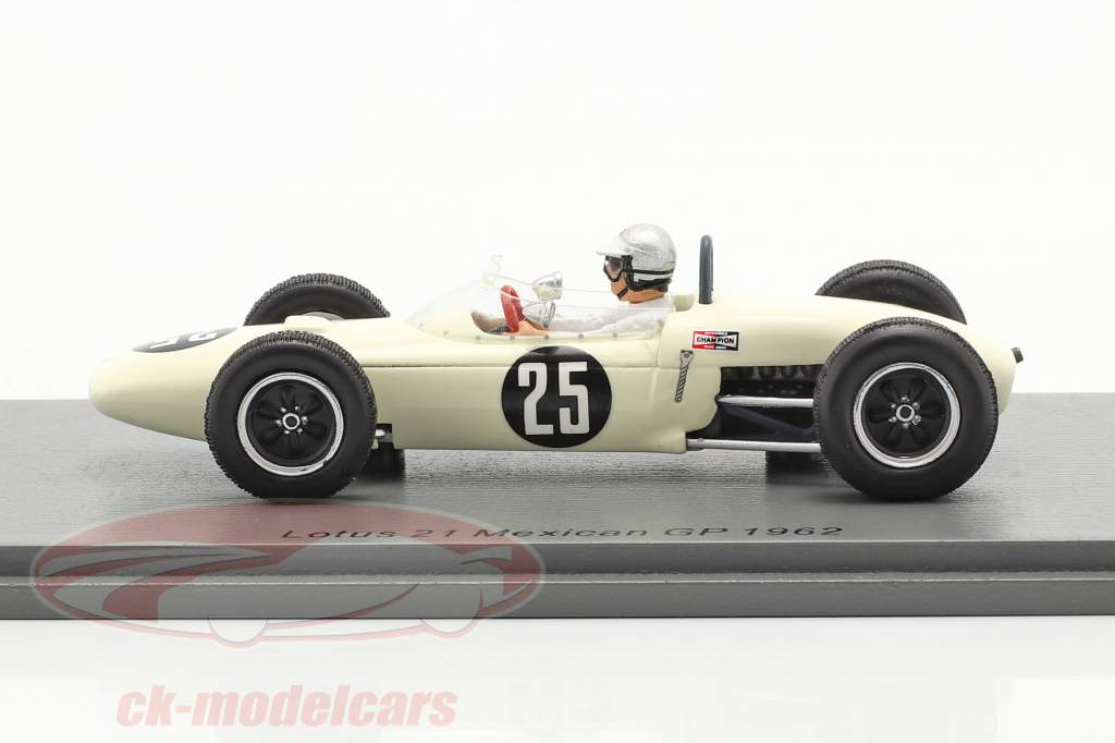 Jim Hall Lotus 21 #25 Mexiko GP 1962 1:43 Spark