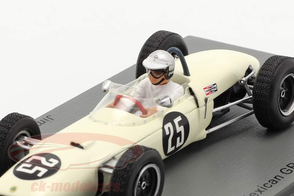 Jim Hall Lotus 21 #25 mexicain GP 1962 1:43 Spark