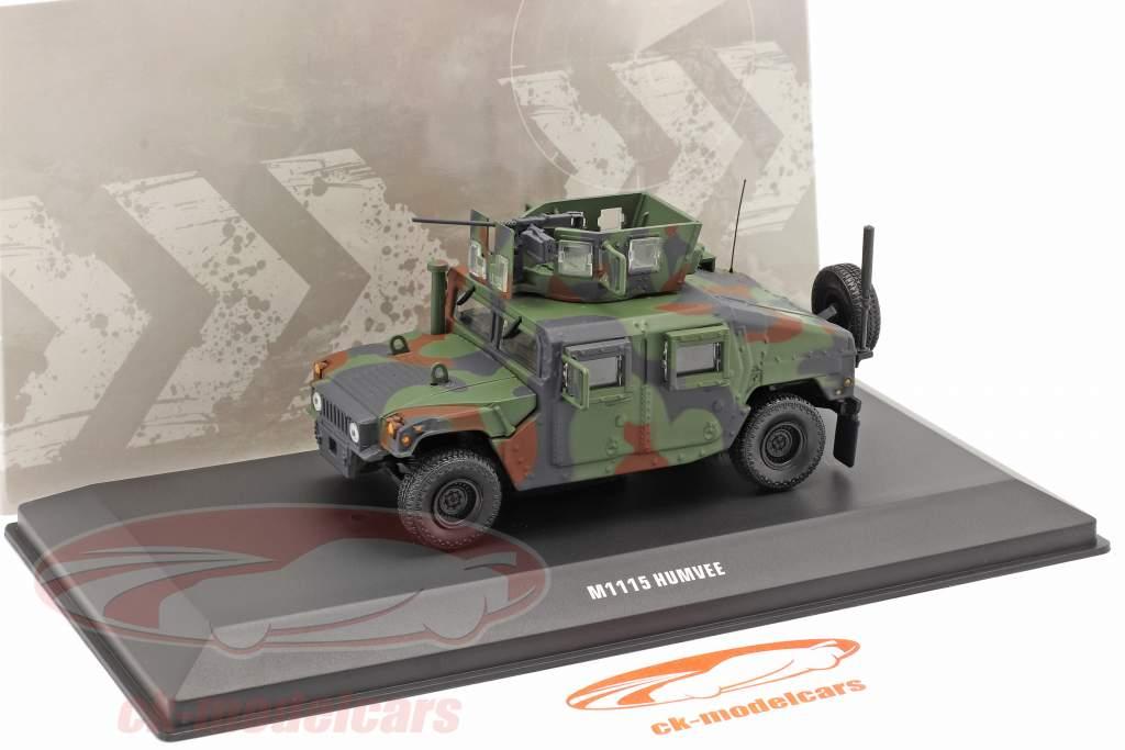 M1115 Humvee Vehículo militar Con pistola camuflaje 1:48 Solido