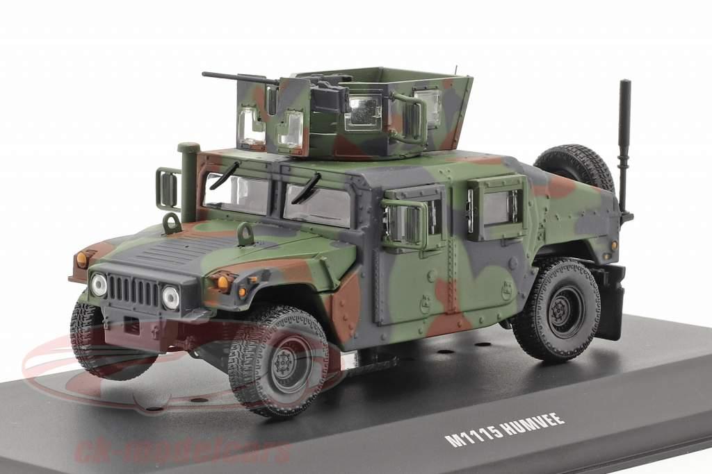 M1115 Humvee Veículo militar Com arma de fogo camuflar 1:48 Solido