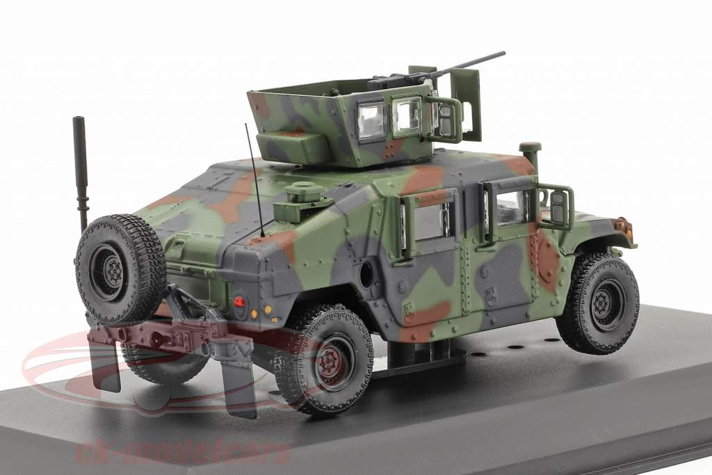 M1115 Humvee Military vehicle with gun camouflage 1:48 Solido