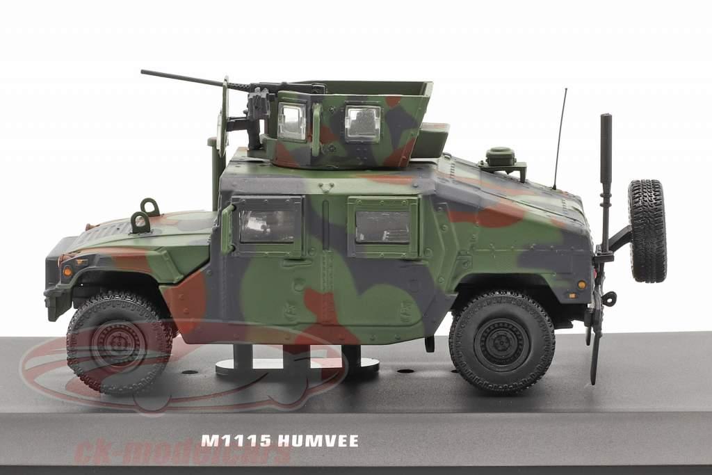 M1115 Humvee Militær køretøj Med pistol camouflage 1:48 Solido