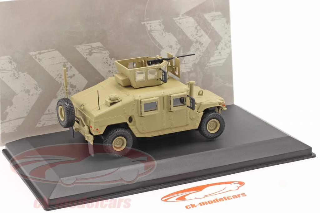 M1115 Humvee Militair voertuig Met pistool zandkleurig 1:48 Solido