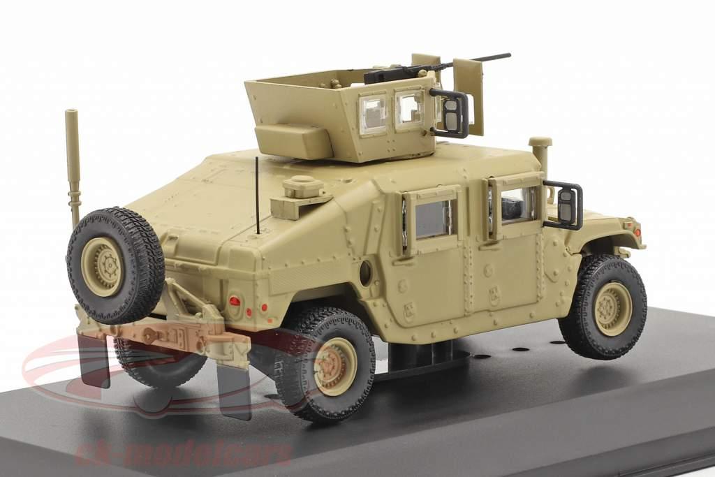 M1115 Humvee Veicolo militare Con pistola color sabbia 1:48 Solido