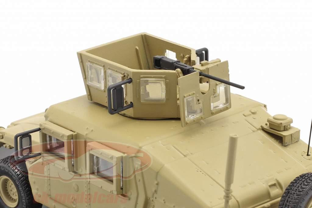M1115 Humvee Veículo militar Com arma de fogo cor de areia 1:48 Solido