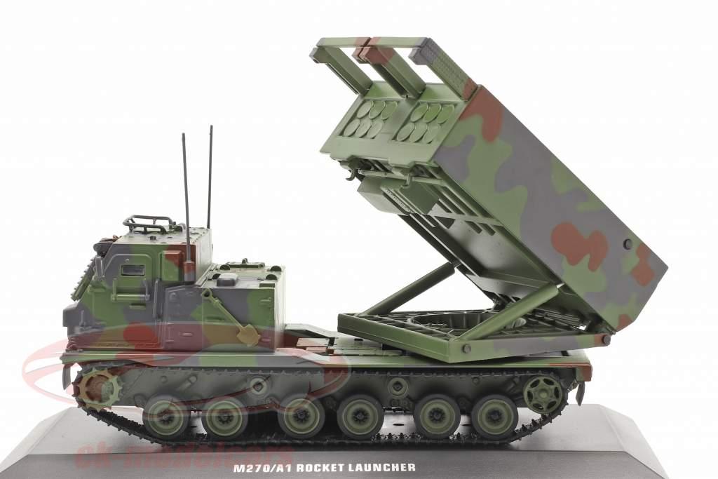 M270/A1 Lançador de foguetes Veículo militar camuflar 1:48 Solido