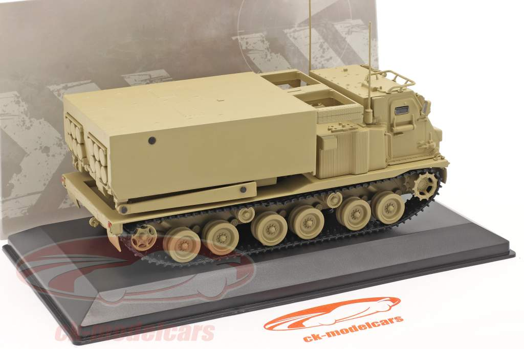 M270/A1 Raketstyr Militær køretøj sandfarvet 1:48 Solido
