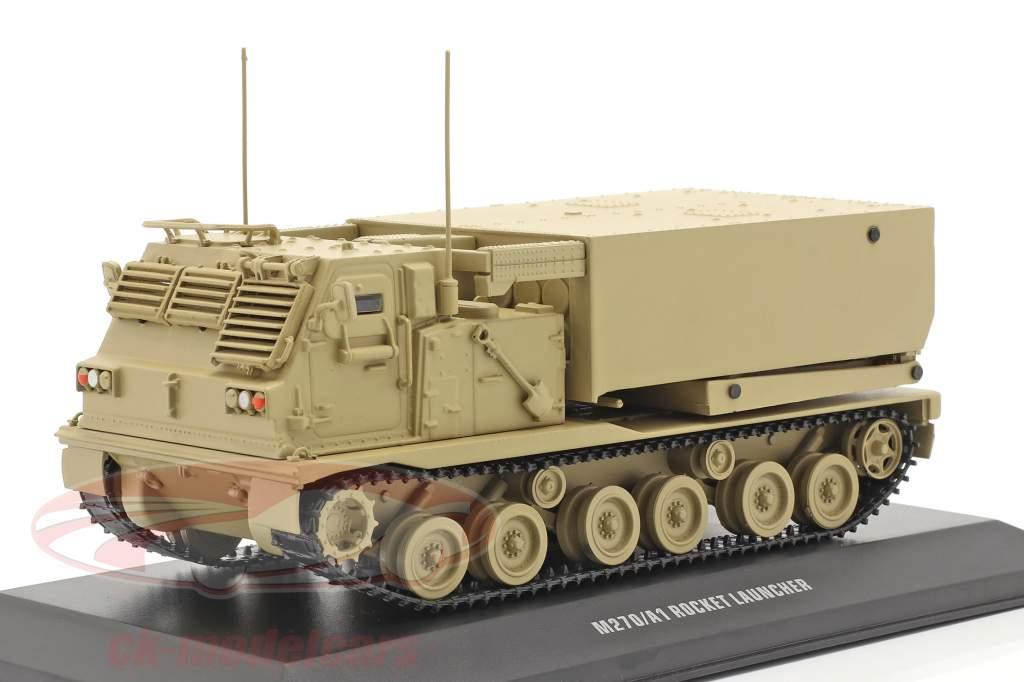 M270/A1 Lançador de foguetes Veículo militar cor de areia 1:48 Solido