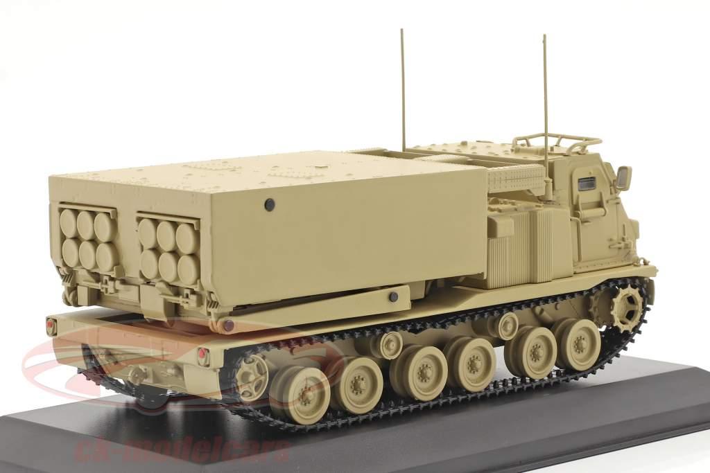 M270/A1 Lanzacohetes Vehículo militar color arena 1:48 Solido