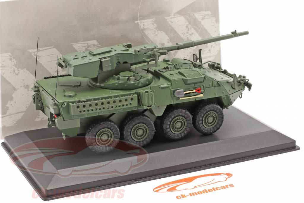 M1128 MGS Stryker Military vehicle camouflage 1:48 Solido