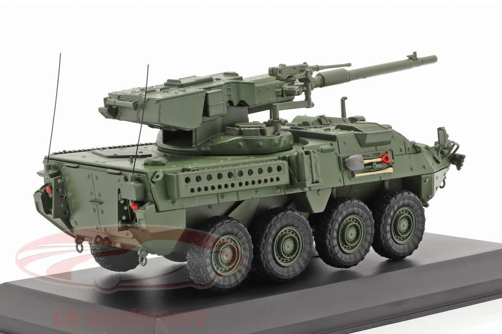 M1128 MGS Stryker Vehículo militar camuflaje 1:48 Solido