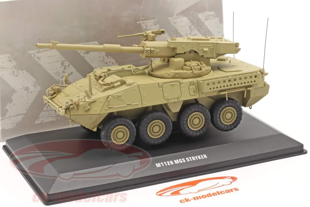 M1128 MGS Stryker Veículo militar cor de areia 1:48 Solido