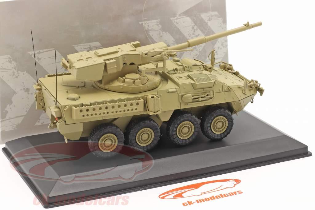 M1128 MGS Stryker Militair voertuig zandkleurig 1:48 Solido