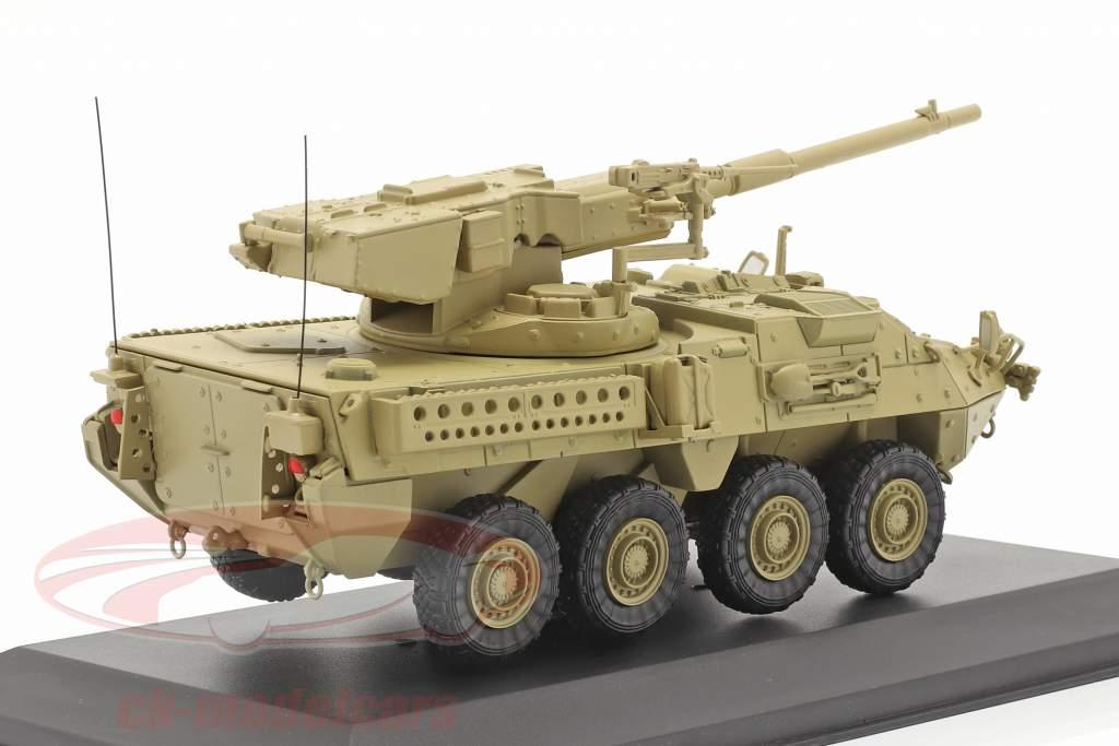M1128 MGS Stryker Militær køretøj sandfarvet 1:48 Solido