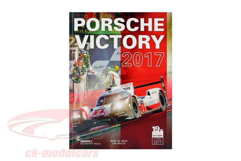 2-Car Set Avec Livre: Porsche 919 Hybrid #1 #2 gagnant 24h LeMans 2017 1:18 Ixo