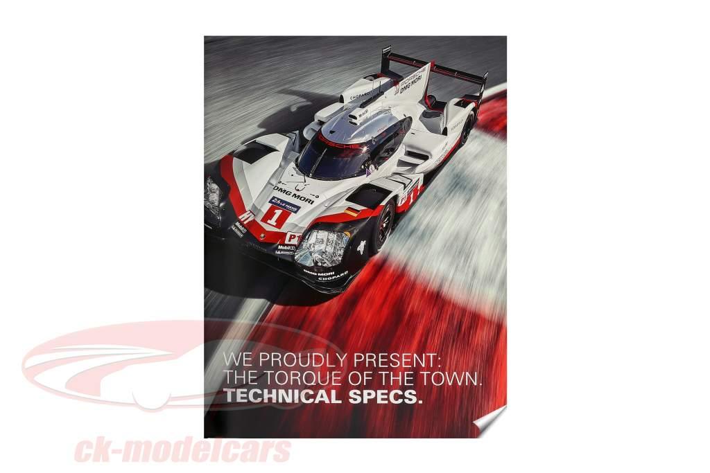 2-Car Set Con Libro: Porsche 919 Hybrid #1 #2 ganador 24h LeMans 2017 1:18 Ixo