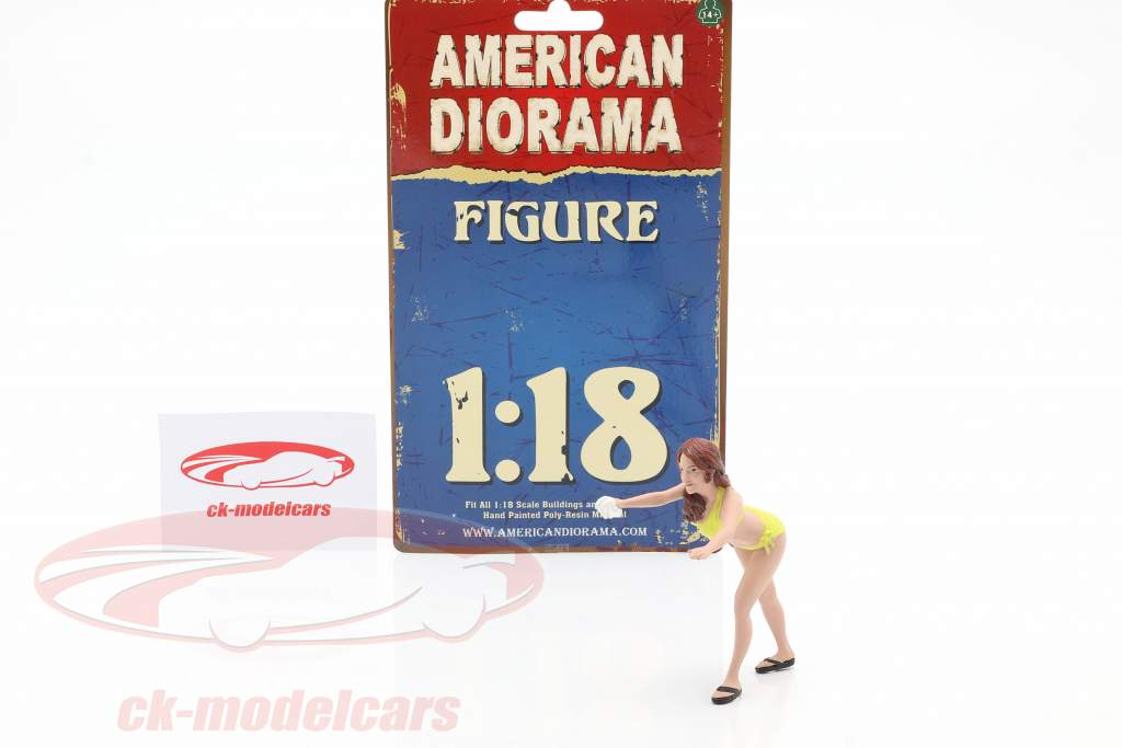 Bikini Car Wash Girl Stephanie figure 1:18 American Diorama
