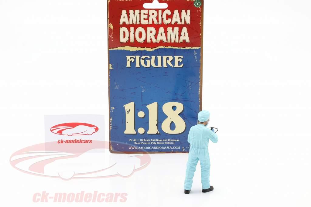 chiffre 4 Hazmat Crew 1:18 American Diorama