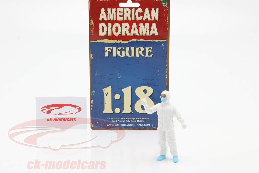 figuur 6 Hazmat bemanning 1:18 American Diorama