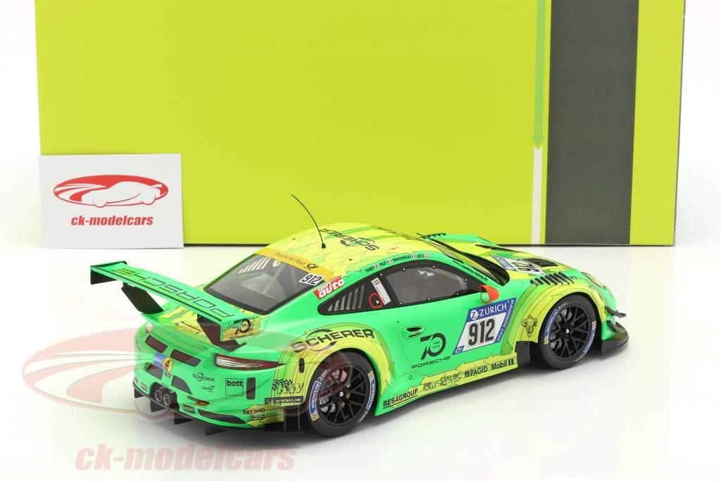 Porsche 911 (991) GT3 R #912 优胜者 24h Nürburgring 2018 Manthey Grello 1:18 Ixo