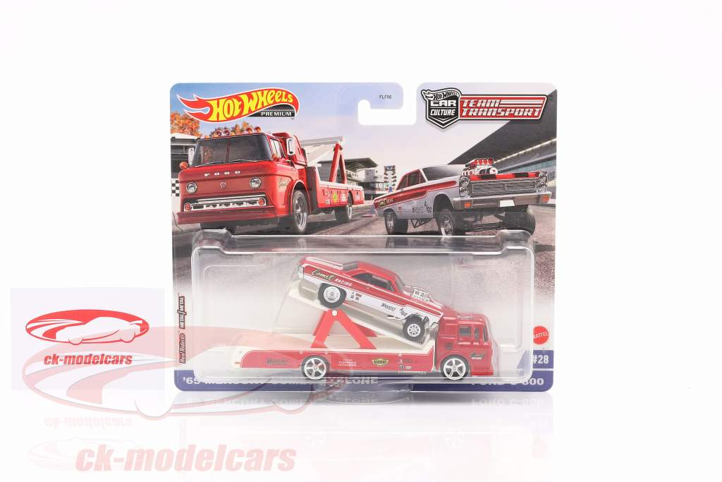 Set Team Transport: Mercury Comet Cyclone 1965 & Ford C-800 1:64 HotWheels