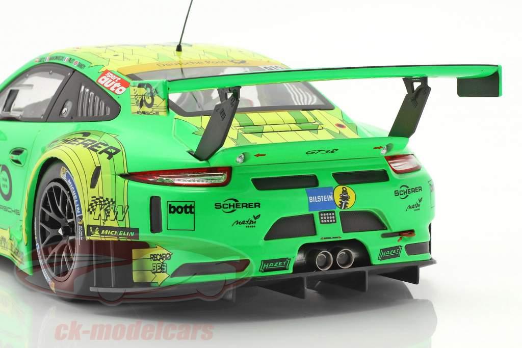 Porsche 911 (991) GT3 R #912 vencedora 24h Nürburgring 2018 Manthey Grello 1:18 Ixo
