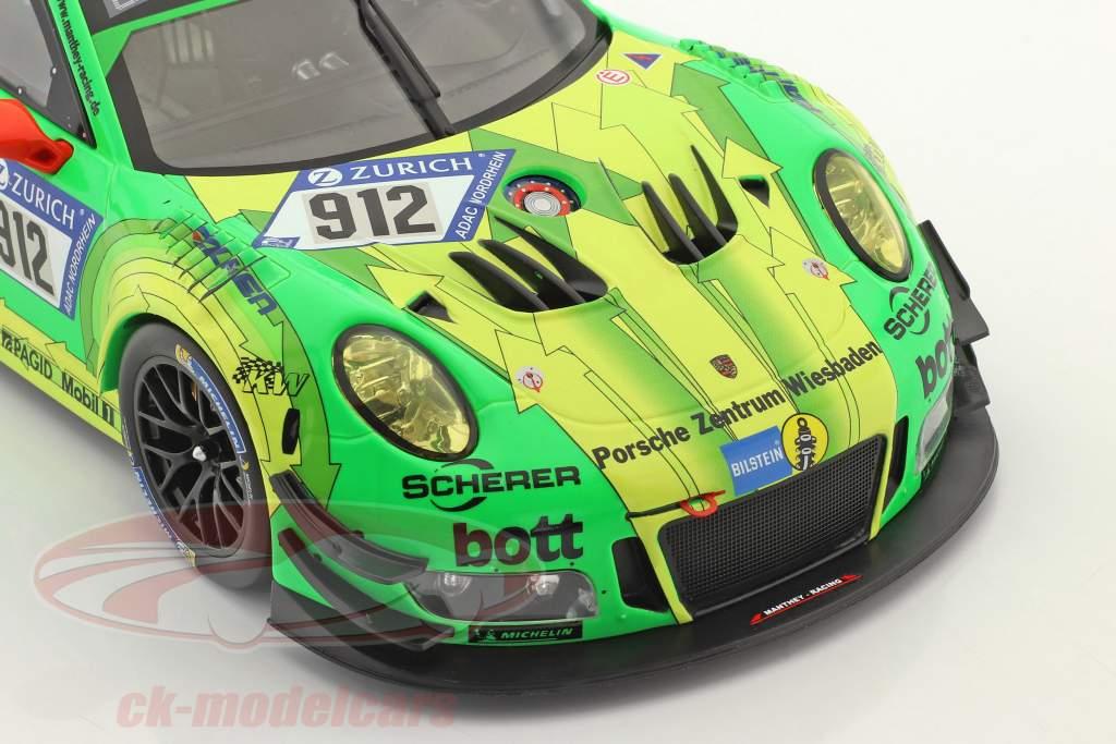 Porsche 911 (991) GT3 R #912 gagnant 24h Nürburgring 2018 Manthey Grello 1:18 Ixo