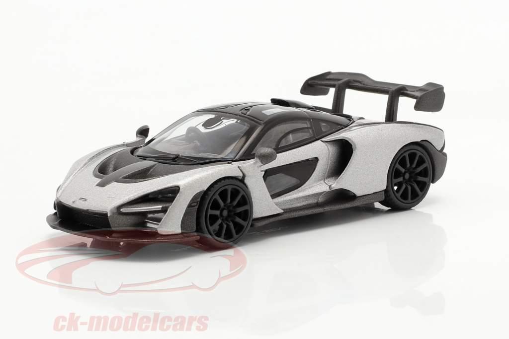 McLaren Senna RHD Año de construcción 2018 plata 1:64 TrueScale