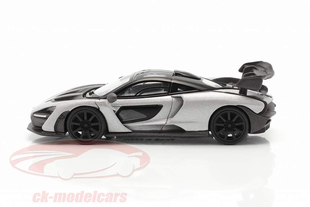 McLaren Senna RHD Bouwjaar 2018 zilver 1:64 TrueScale