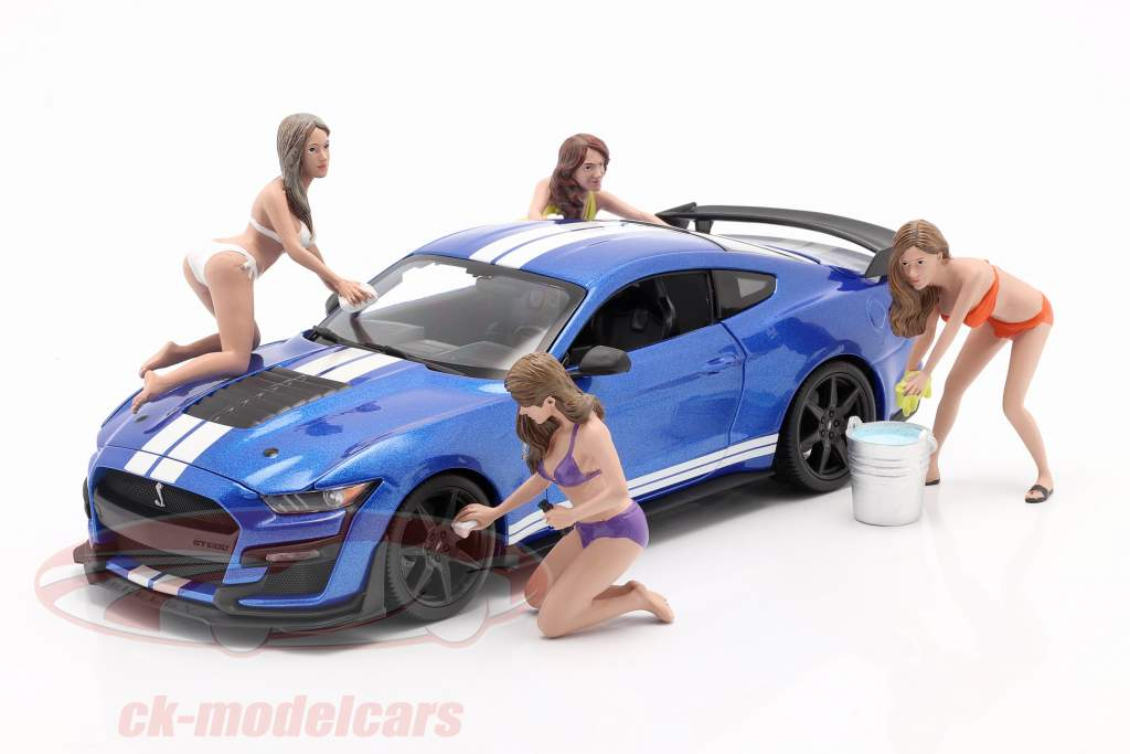 Bikini Car Wash Girl Alisa chiffre 1:18 American Diorama