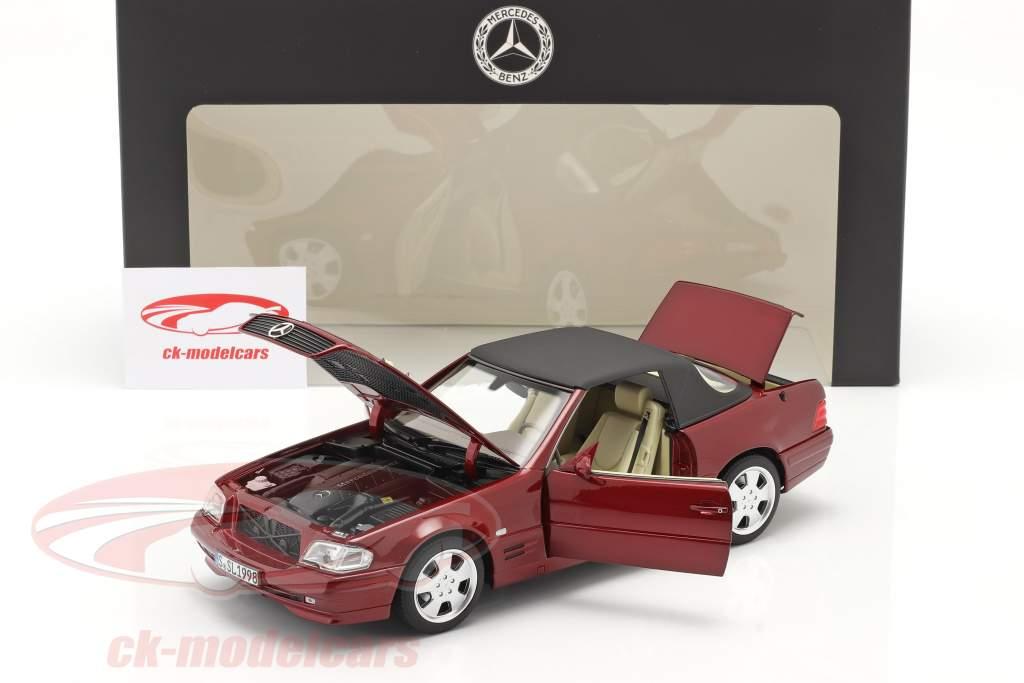 Mercedes-Benz 500 SL (R129) Facelift 1998-2001 rav rød 1:18 Norev