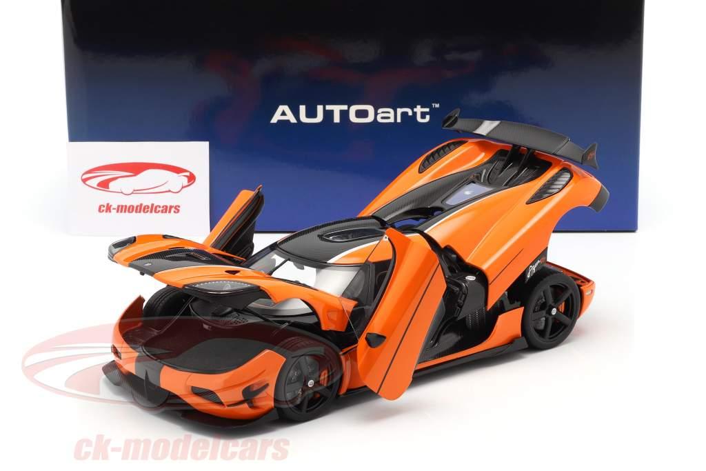 Koenigsegg Agera RS Año de construcción 2015 naranja / carbón 1:18 AUTOart